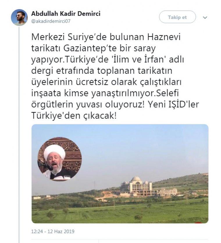 Suriyeli Haznevi Tarikatı Türkiye'de devasa külliye açıyor