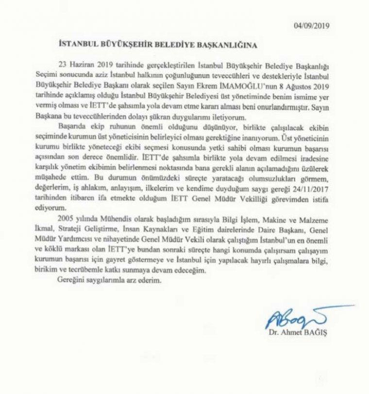 Son dakika: İBB bir istifa daha: İETT müdürü istifa etti