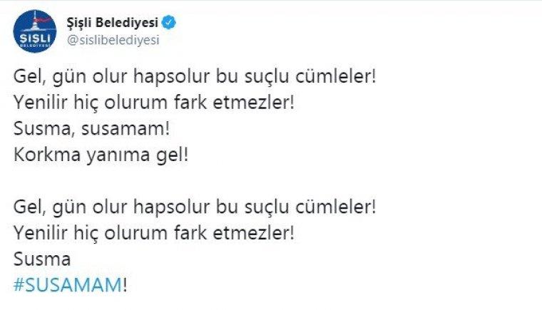 Susamam Türkiye gündeme oturdu: Cesaret bulaşıcıdır