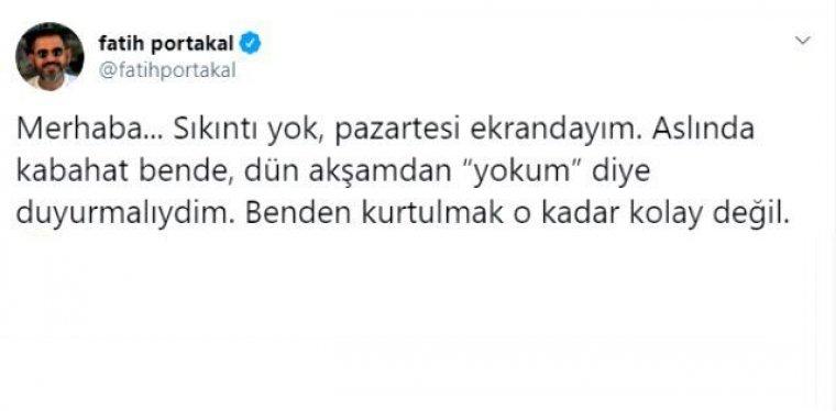 Fatih Portakal kovuldu mu? Fatih Portakal neden yayına çıkmadı?