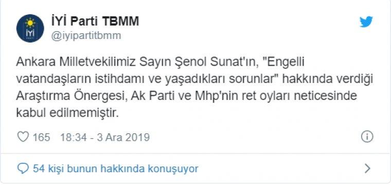TBMM'de rngelliler için verilen önerge AKP ve MHP oylarıyla reddedildi.
