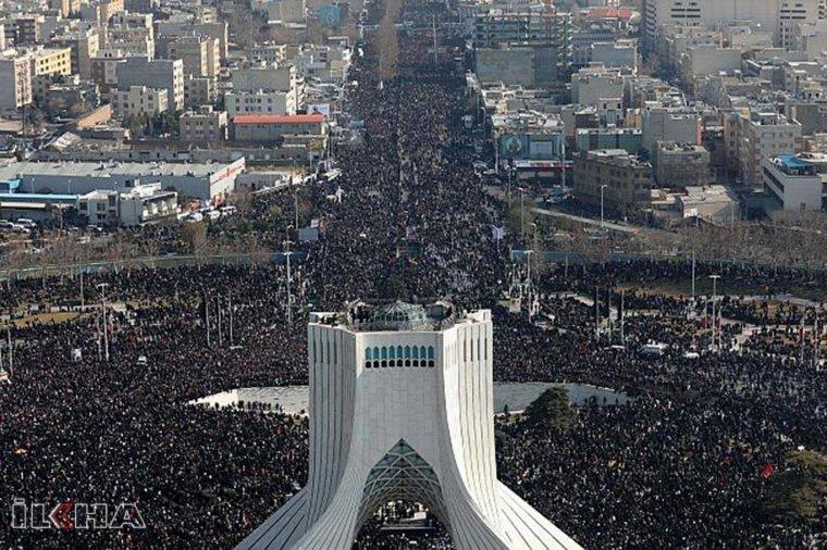Süleymani'nin cenaze töreninde izdiham: 35 kişi öldü 48 yaralı
