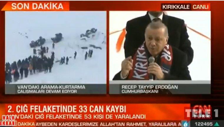 NTV ve CNN Türk'e Erdoğan ve çığ tepkisi: Solda can, sağda oy pazarı