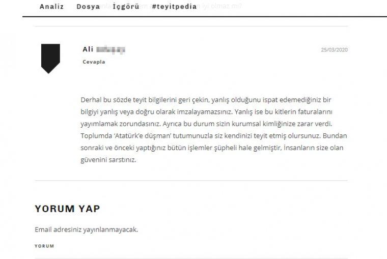 Teyit.org'tan Atatürk ve Hıfzıssıhha haberlerine hatalı teyit