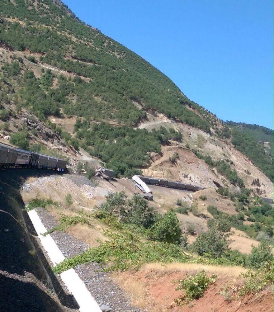 PKK Trene Bombalı saldırı