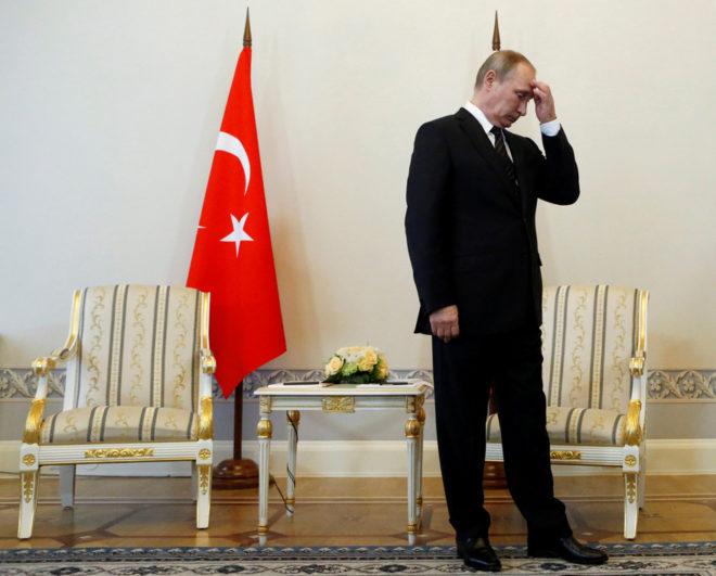 Vladimir Putin ve Erdoğan buluşması