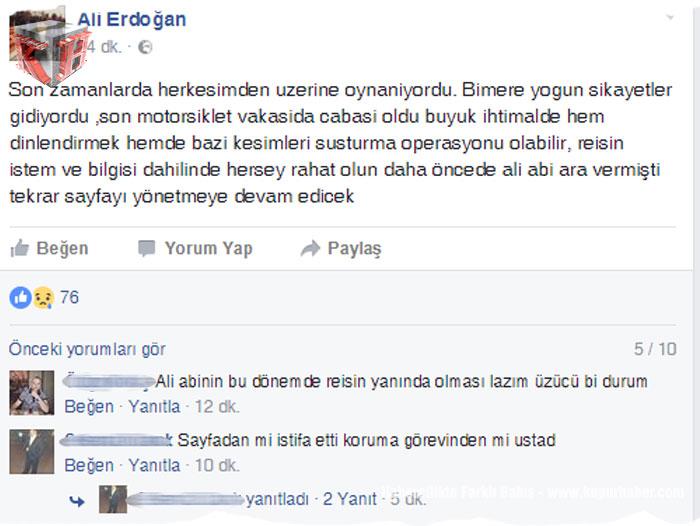 Ali Erdoğan İStifa Mı etti
